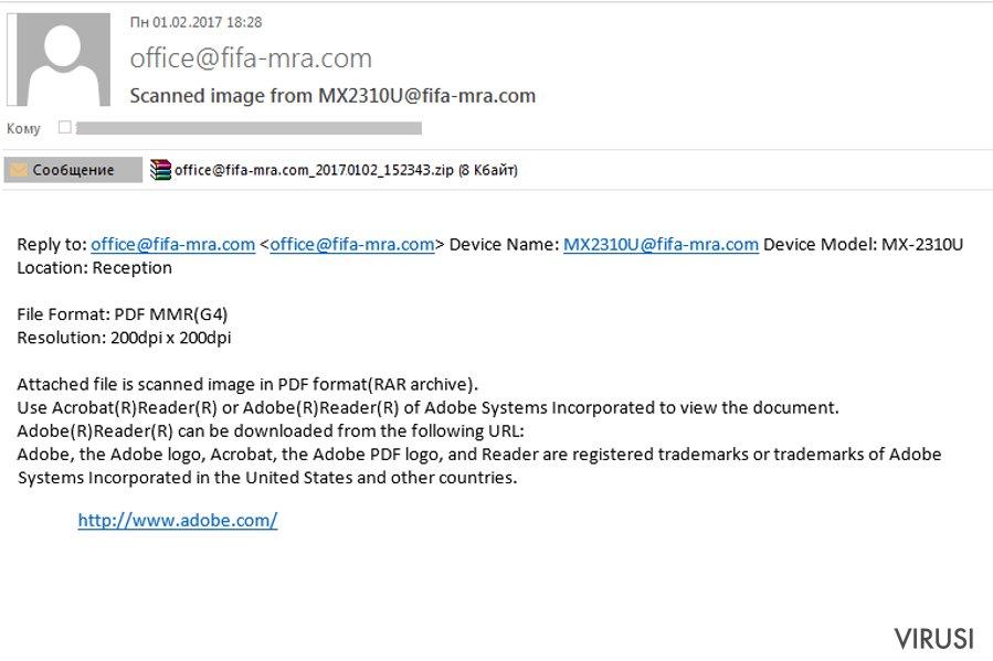 virusi email
