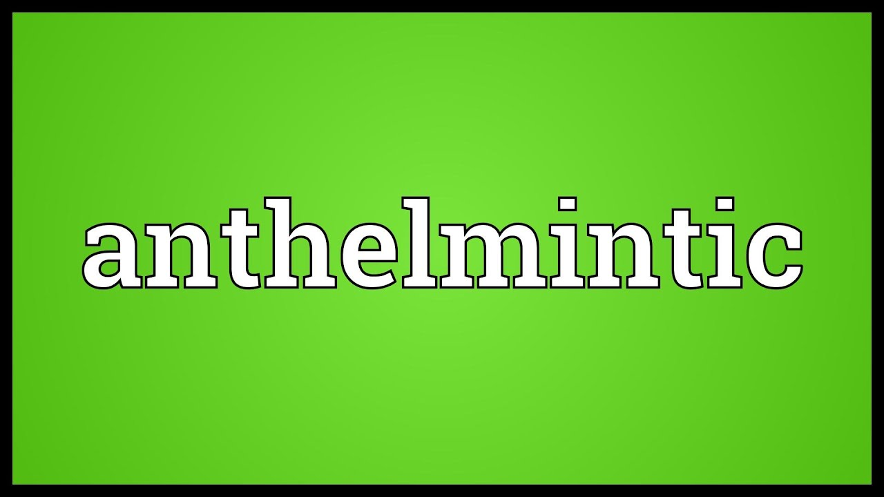 an anthelmintic definition
