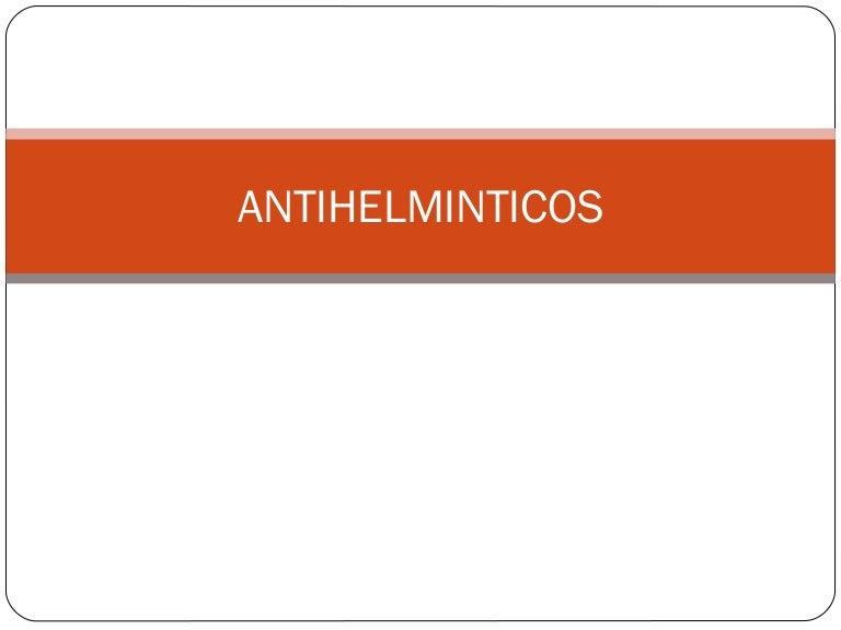 antihelminticos clasificacion)