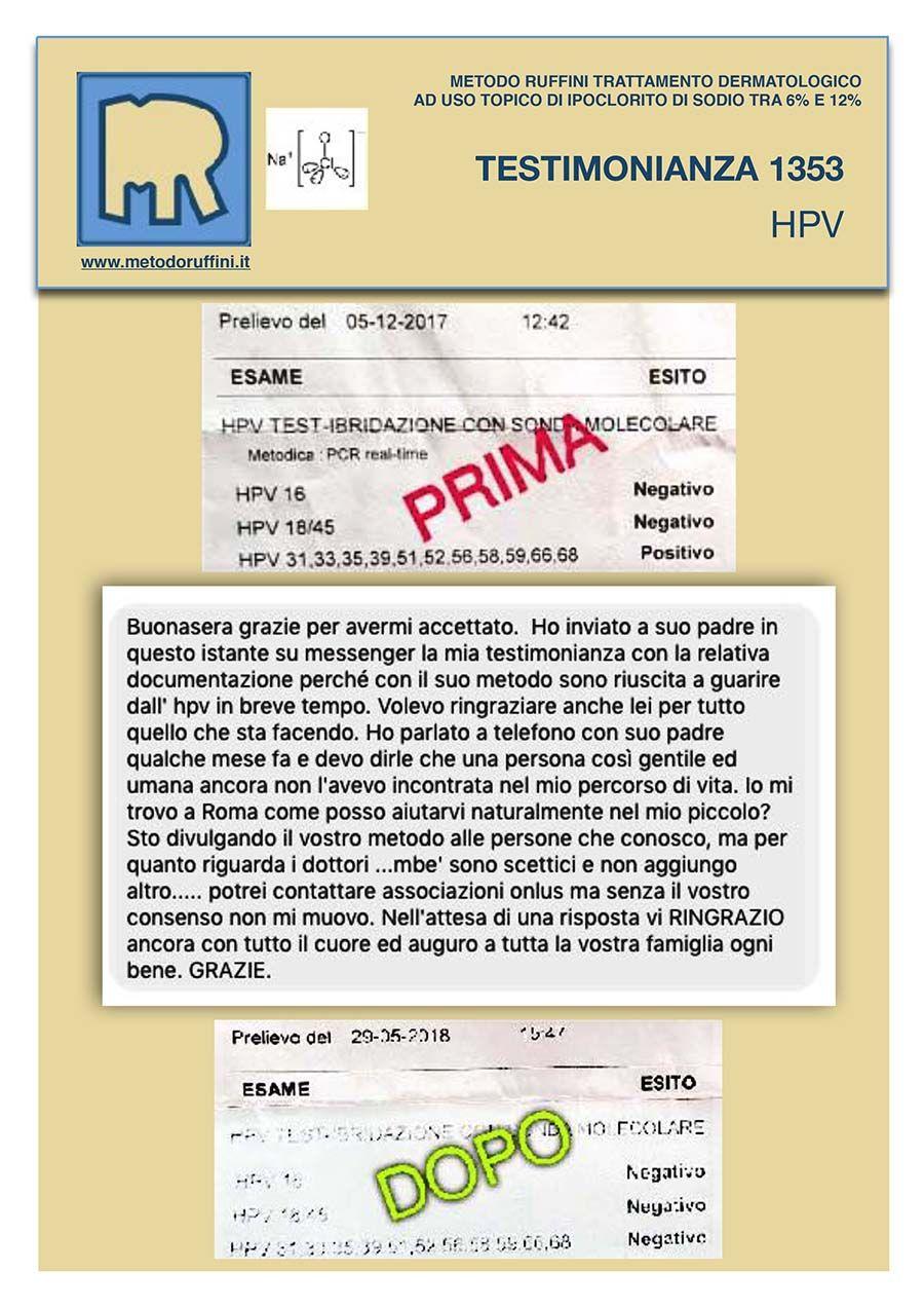 papilloma virus metodo ruffini