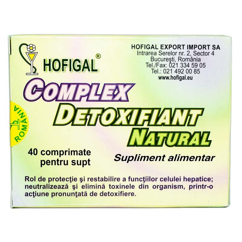 complex detoxifiant natural hofigal 40 comprimate)
