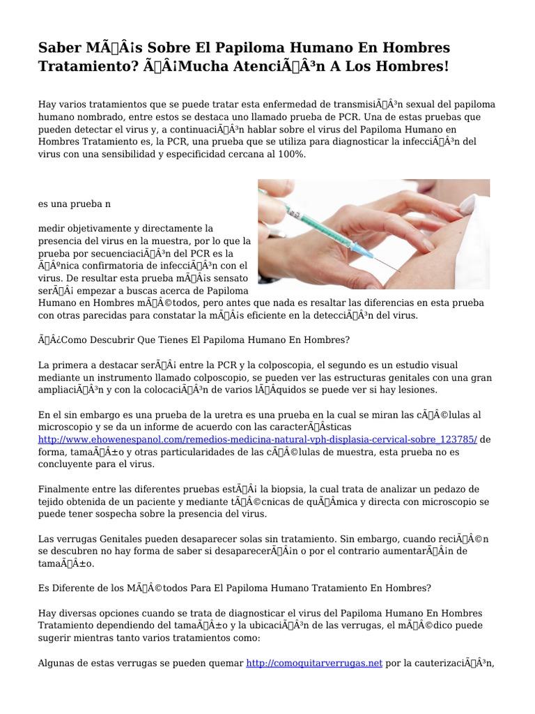 papiloma en hombres tratamiento)
