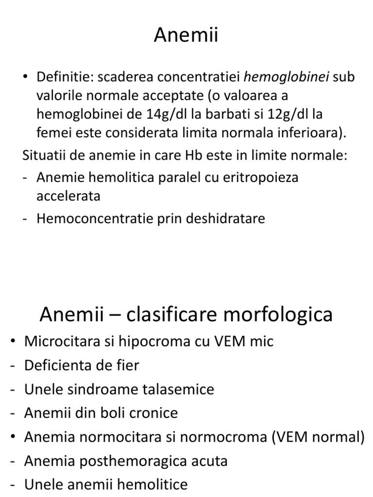 anemie moderata)
