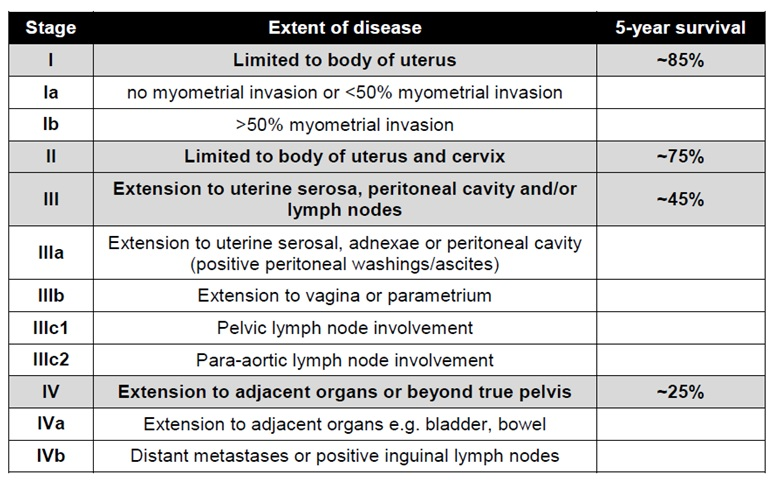 cancer endometrial tnm
