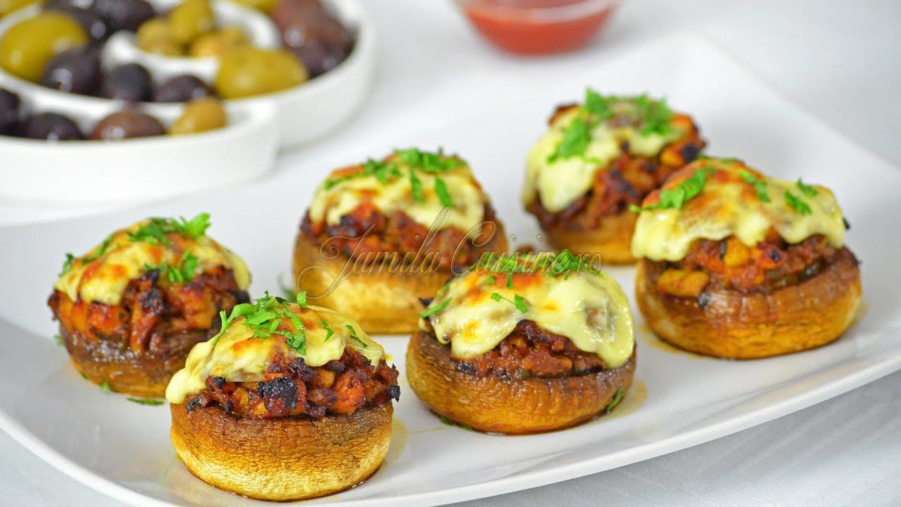 ciuperci intregi la cuptor