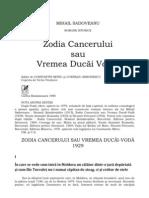 zodia cancerului sau vremea ducai voda rezumat)