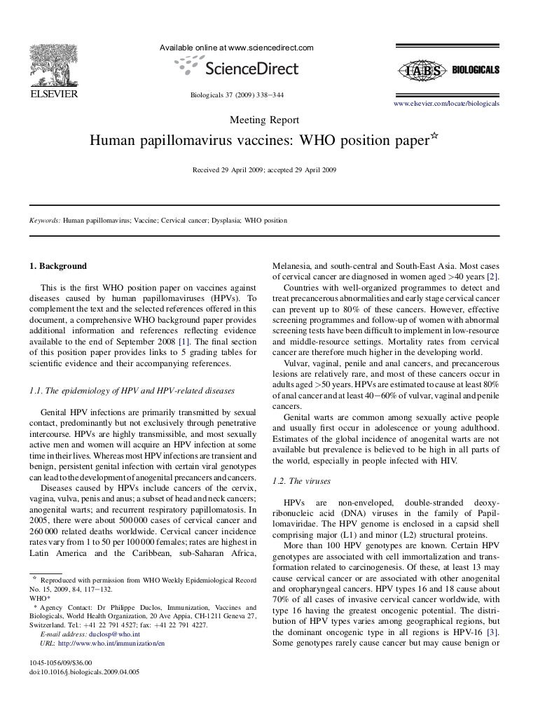 Human papillomavirus vaccines who position paper may recommendations, Vaccinul si autismul