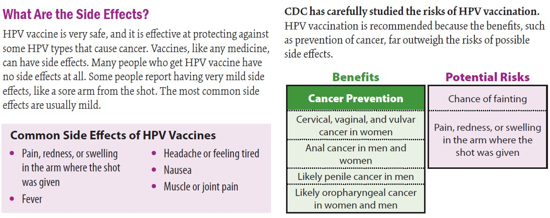 hpv vaccine side effects back pain)