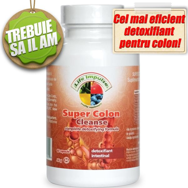 Colon Plus+ cu 12 Ingrediente Active – Super Concentrat – 60 Capsule