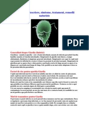 Infectia cu giardioza