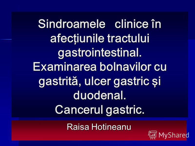cancerul gastric tablou clinic