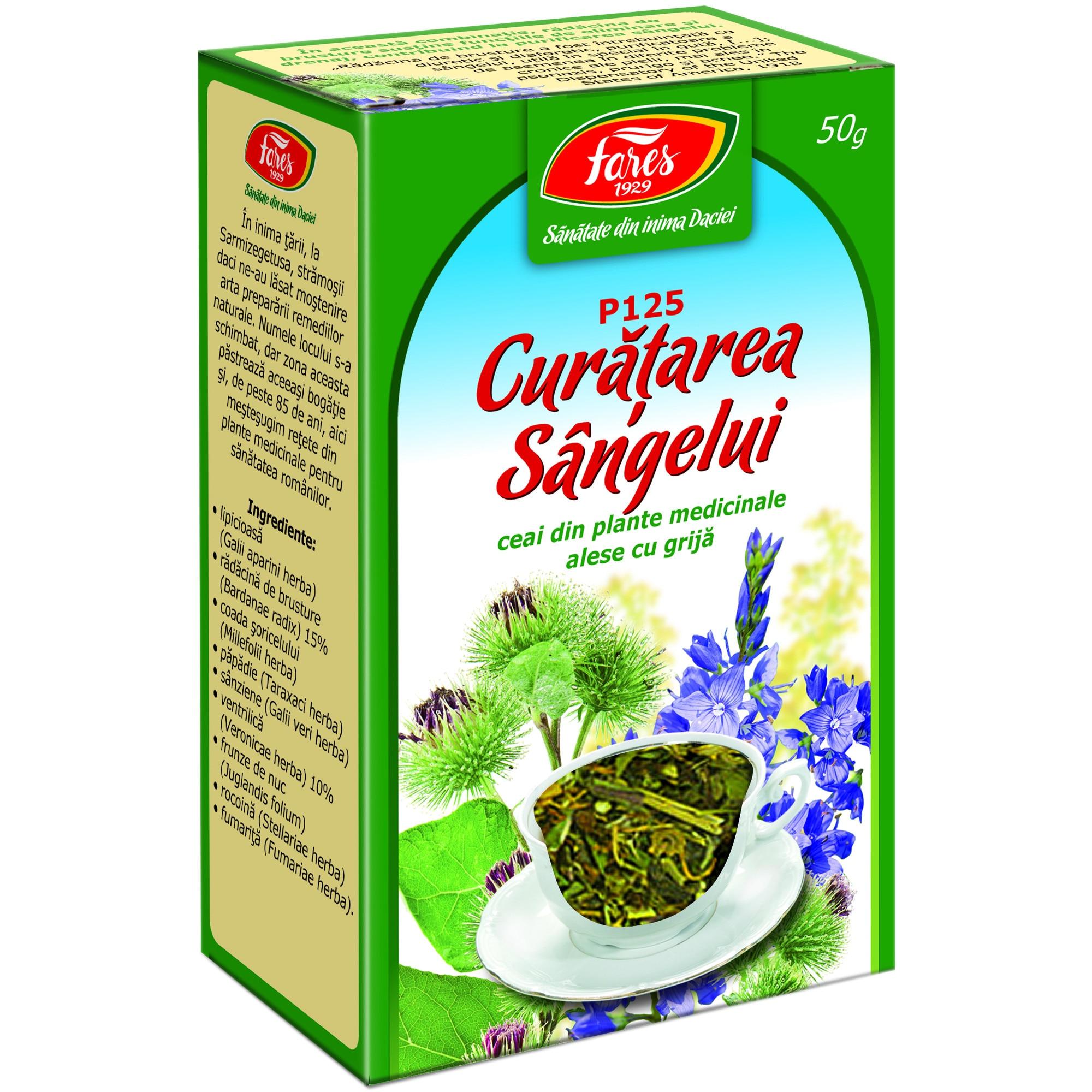 Ceai Curatarea Sangelui (P125) 50g FARES