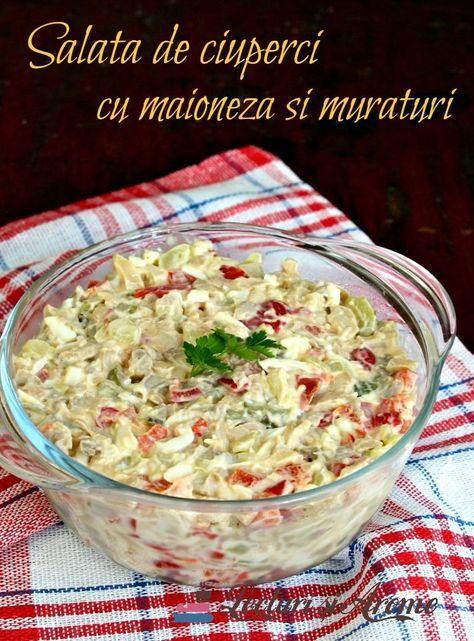 Salata de ciuperci cu maioneza reteta simpla | Savori Urbane