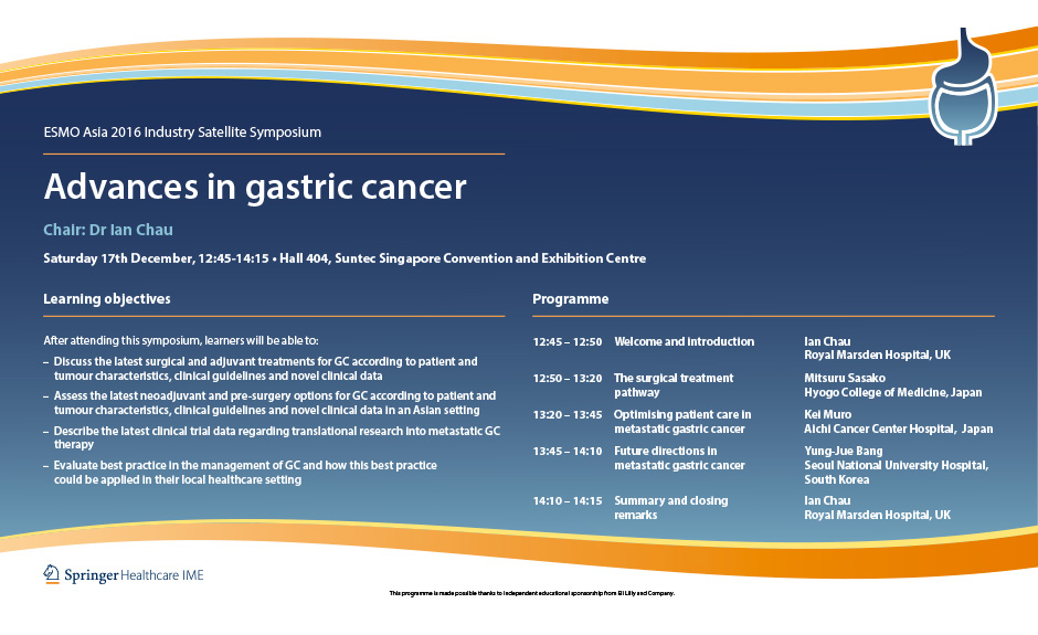 gastric cancer esmo 2020)