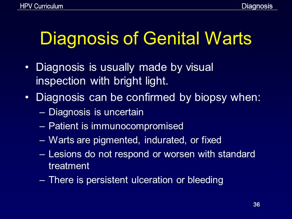 hpv warts diagnosis)