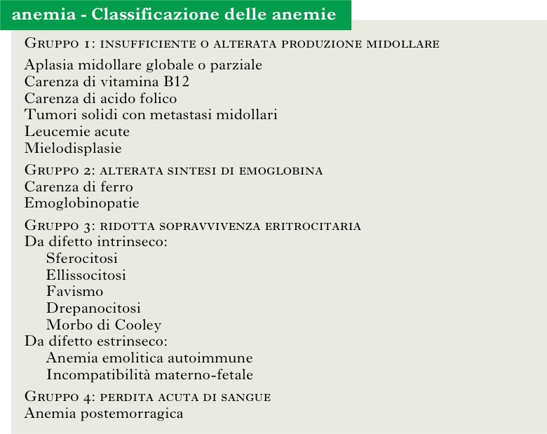 anemie 3 gruppo