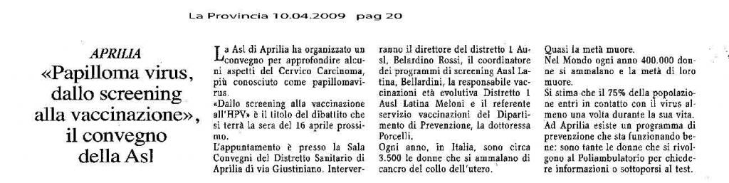 vaccino papilloma virus latina