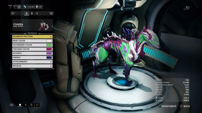 helminth infection warframe