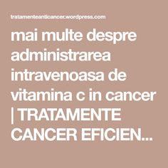 Tratament naturist cancer