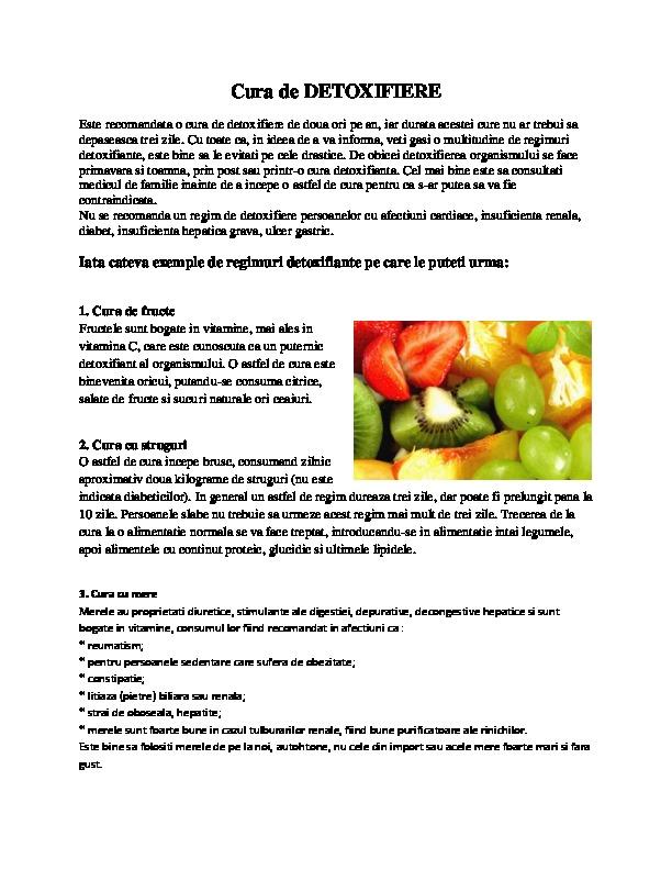 regim detoxifiere ficat)