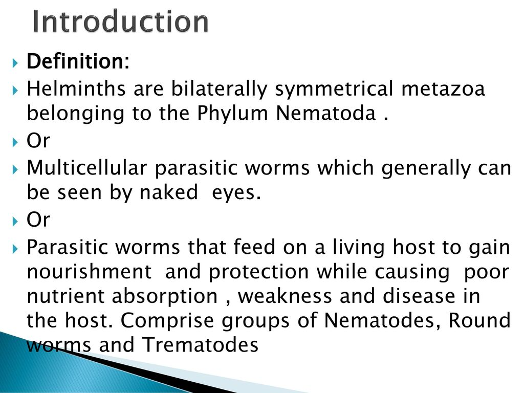 define human helminth