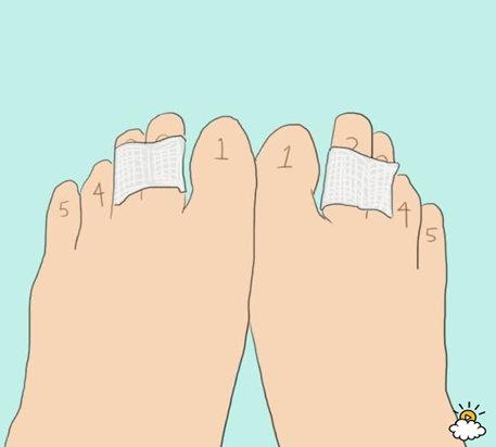 degetele de la picioare se udă)
