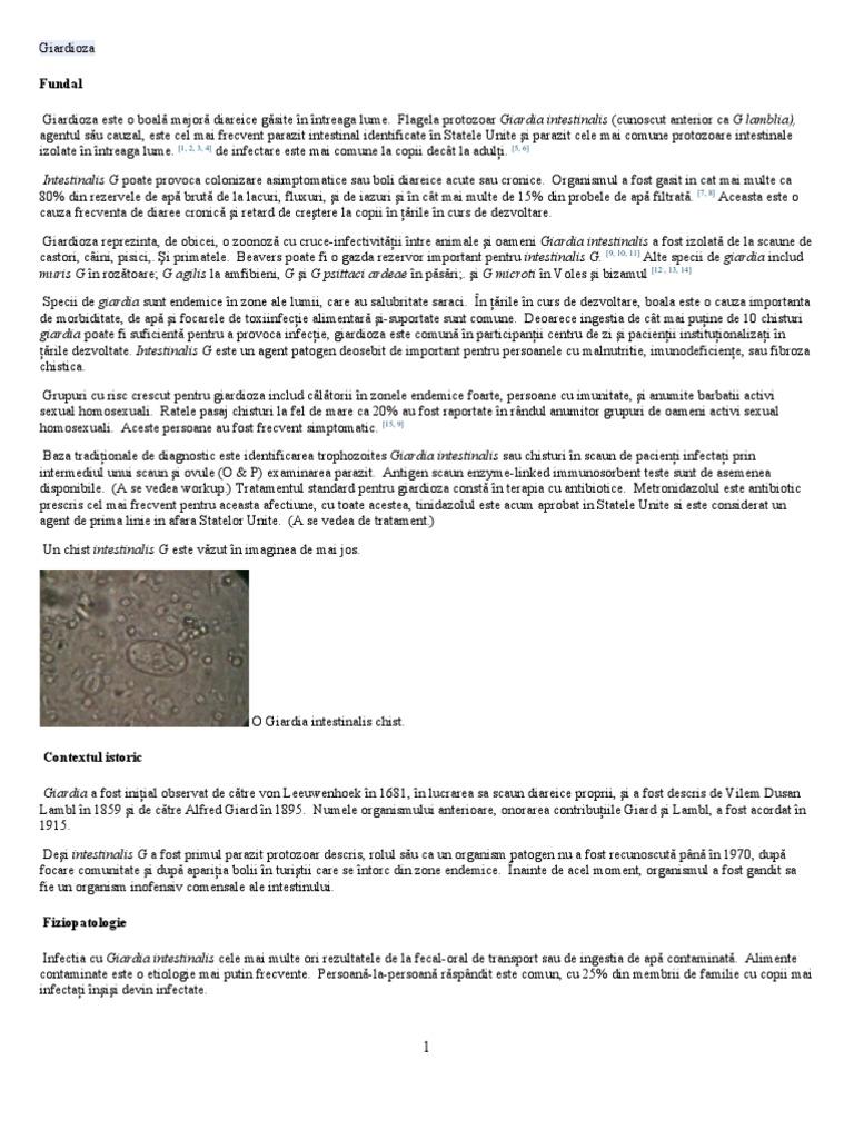 doza de antibiotice pentru giardia)