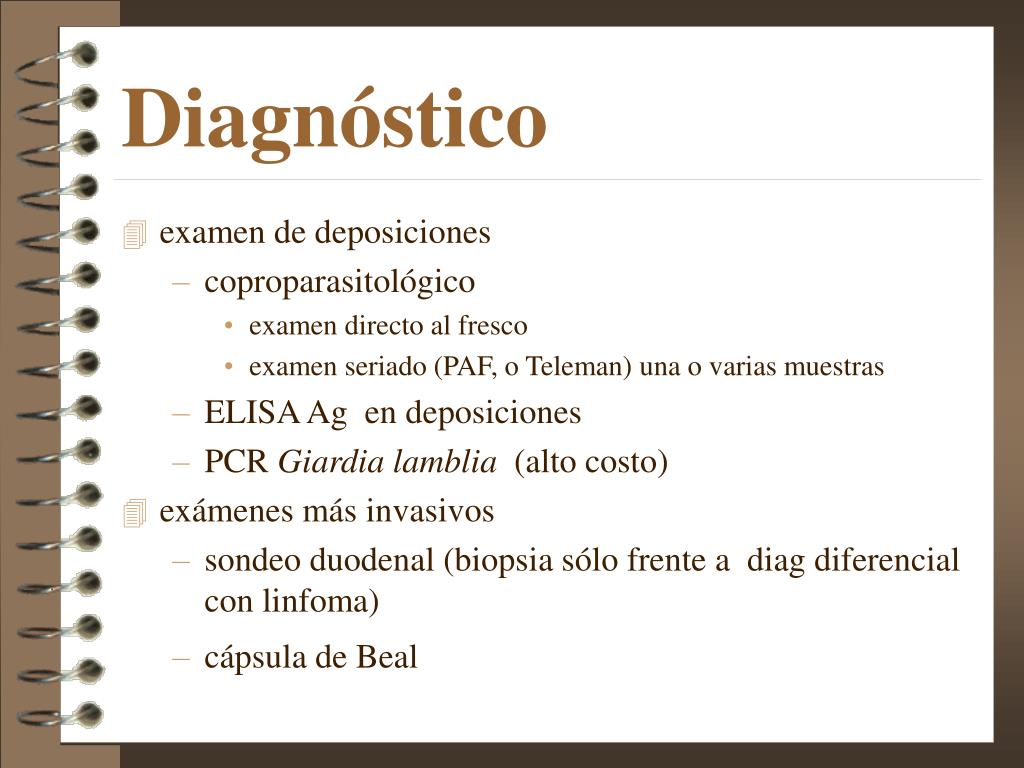 Giardia duodenalis diagnostico. Giardia duodenalis tratamiento