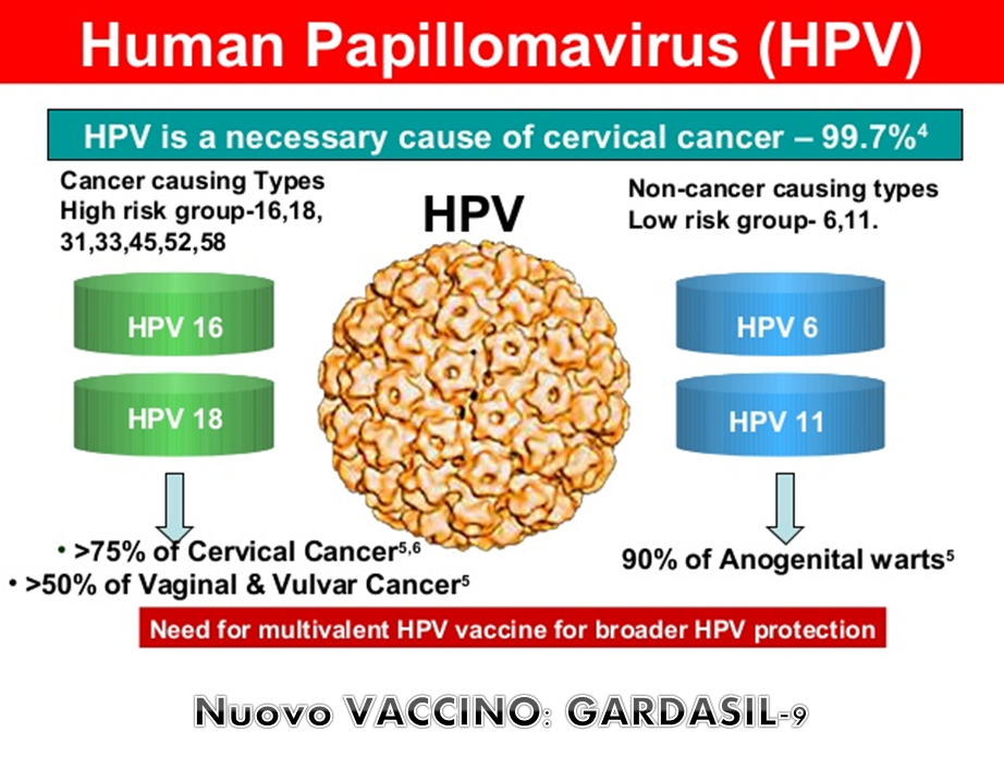 Papilloma virus vaccino nonavalente