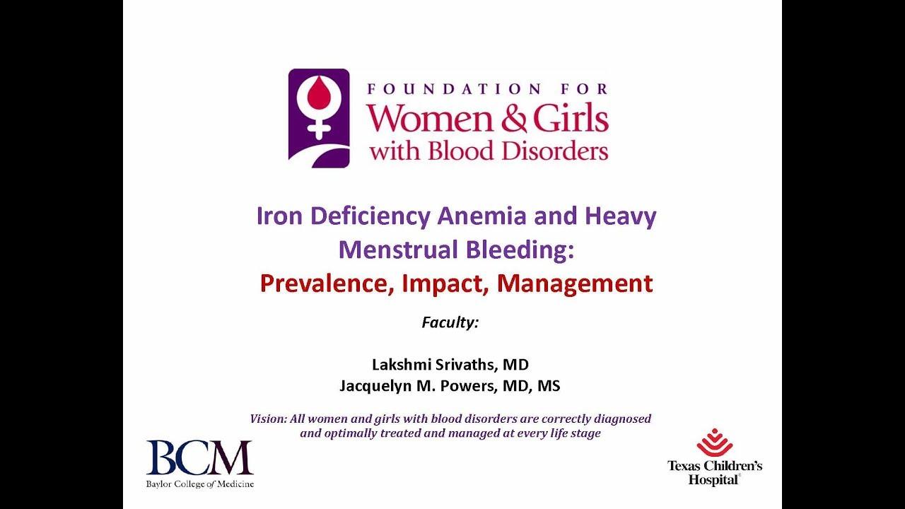 anemia y menstruacion