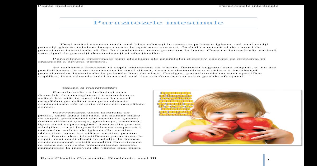 analize specifice paraziti)
