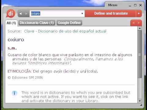 oxiuros significado diccionario