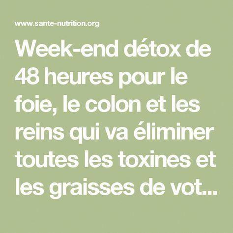 cure detox foie colon