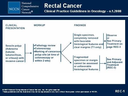 rectal cancer nice guidelines tratament de detoxifiere