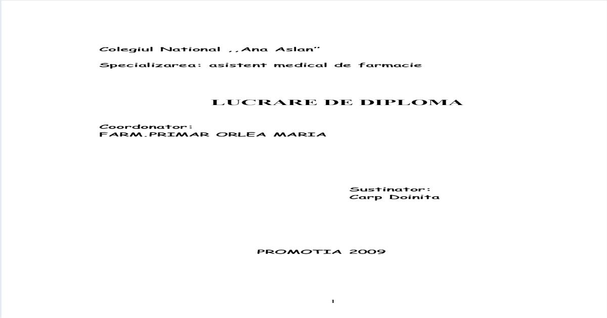 Lucrare de Diploma Ulcer Gastric - [DOC Document]