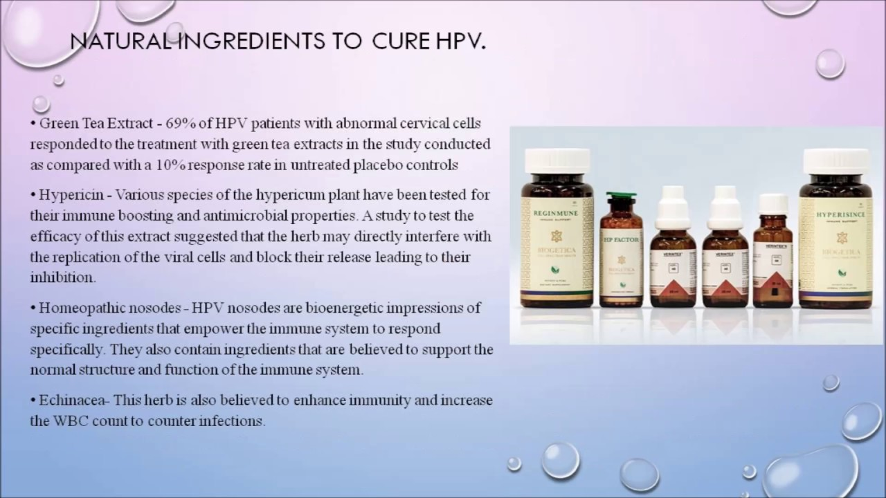 hpv infection cure)