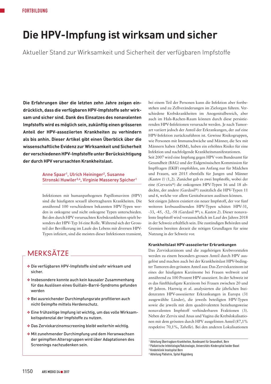 Hpv impfung jungen schema