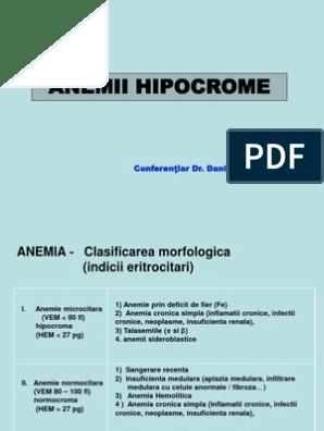 anemie moderata