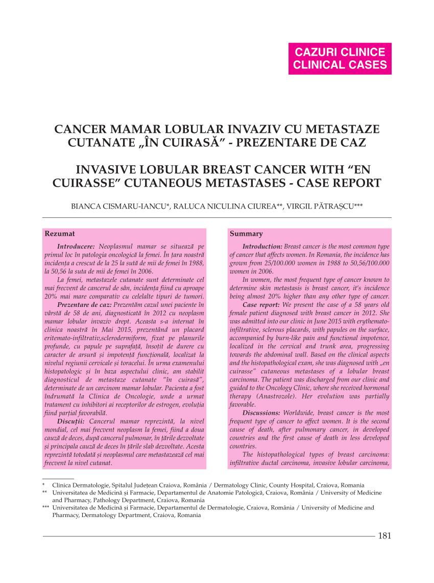 cancer mamar ductal)