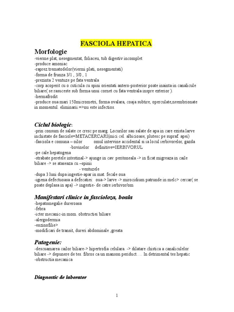 sursa de infecție cu fascioliasis