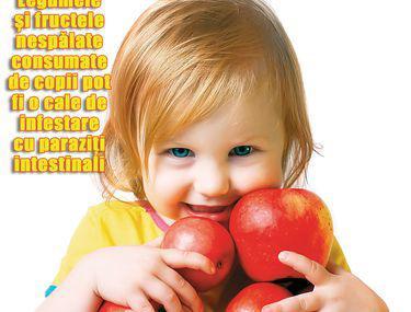 ce ajung copiii pentru a preveni viermii)