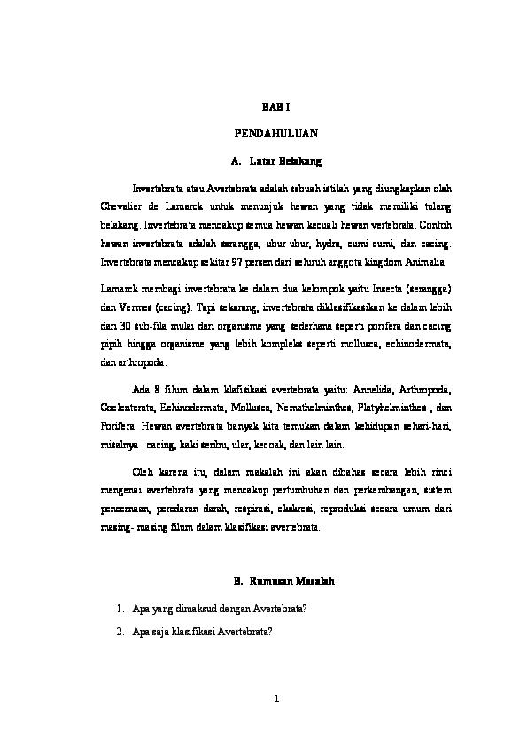 contoh makalah filum nemathelminthes