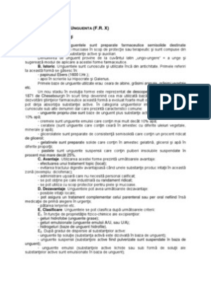 Tratament cu unguent HPF