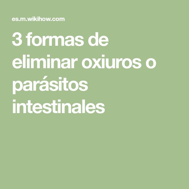 los parasitos oxiuros)